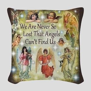 Angels Woven Throw Pillow