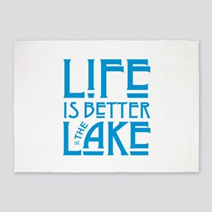Life Better at Lake 5'x7'Area Rug