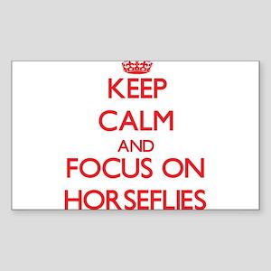 Keep Calm and focus on Horseflies Sticker