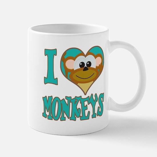 I Love (Heart) Monkeys Mug