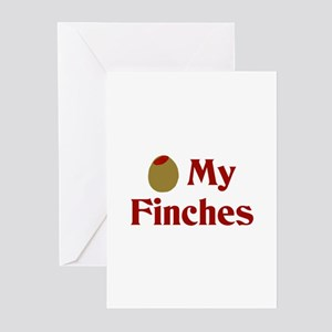 Olive (I Love) My Finches Greeting Cards (Package