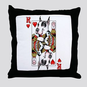 Great Dane Harle K Hearts Throw Pillow