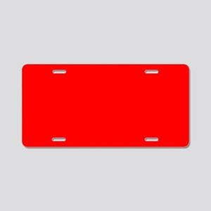 Aluminum License Plate Uni Red