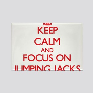 Keep Calm and focus on Jumping Jacks Magnets