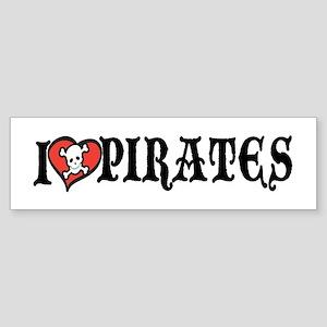 I Heart Pirates Bumper Sticker