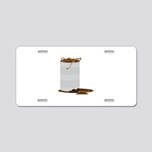 Can of Worms Aluminum License Plate