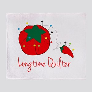Longtime Quilter Throw Blanket