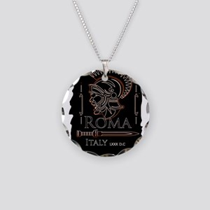 Centurion Necklace Circle Charm