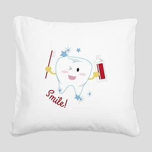 Smile! Square Canvas Pillow