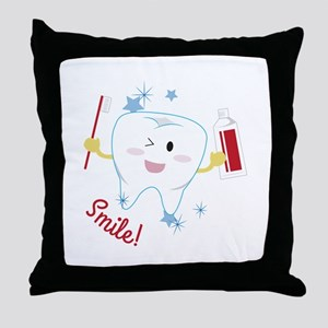 Smile! Throw Pillow