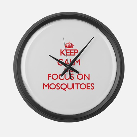 Unique Mosquitoes Large Wall Clock