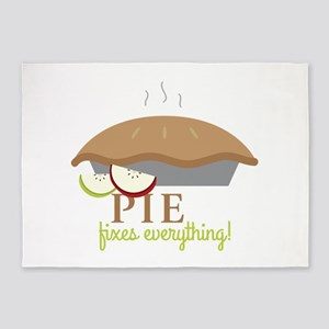 Pie Fixes Everything 5'x7'Area Rug