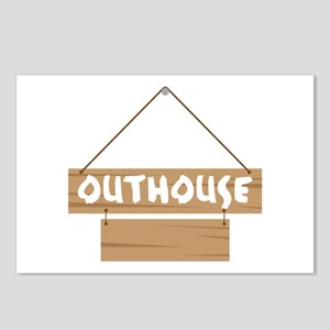 Outhouse Blank Caption Postcards (Package of 8)