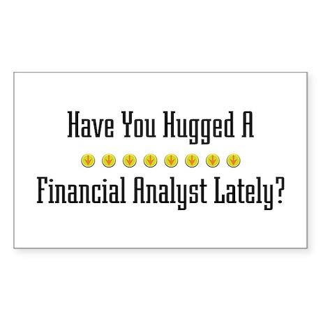 Hugged Financial Analyst Rectangle Sticker