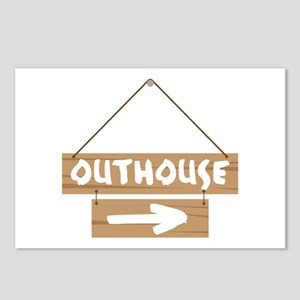 Outhouse Arrow Postcards (Package of 8)