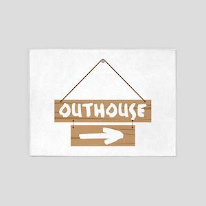 Outhouse Arrow 5'x7'Area Rug