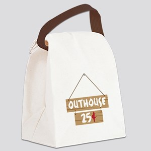 Outhouse 25¢ Canvas Lunch Bag