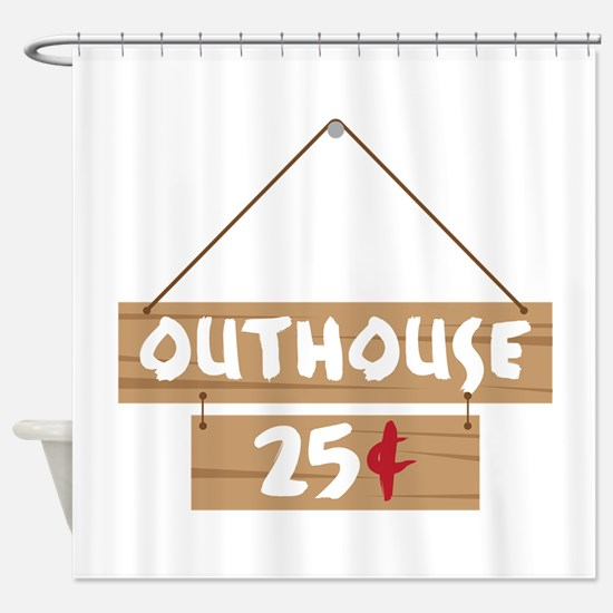Outhouse 25¢ Shower Curtain