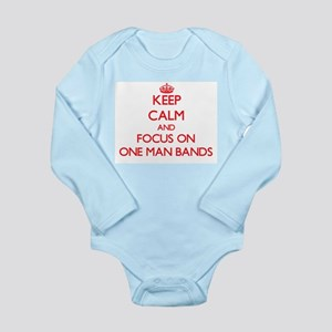 Keep Calm and focus on One-Man Bands Body Suit