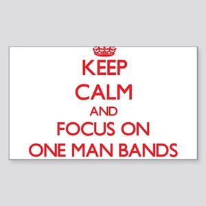 Keep Calm and focus on One-Man Bands Sticker