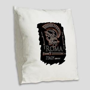 Centurion Burlap Throw Pillow