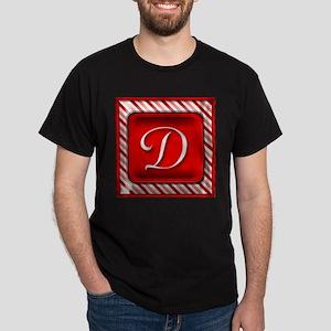 Peppermint Candy Cane Monogram D T-Shirt