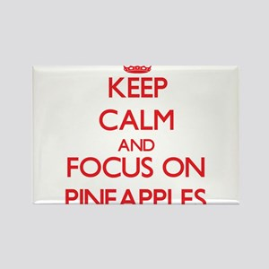 Keep Calm and focus on Pineapples Magnets