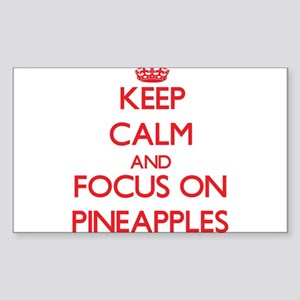 Keep Calm and focus on Pineapples Sticker