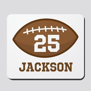Personalized Football Player Mousepad
