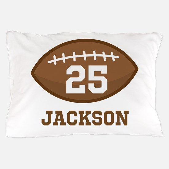 Personalized Football Player Pillow Case