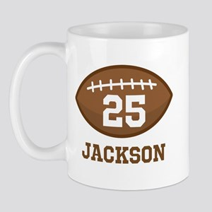 Personalized Football Player Mugs