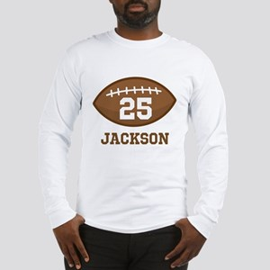 Personalized Football Player Long Sleeve T-Shirt