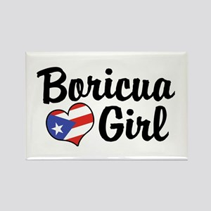 Boricua Girl Rectangle Magnet