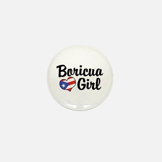 Boricua Girl Mini Button