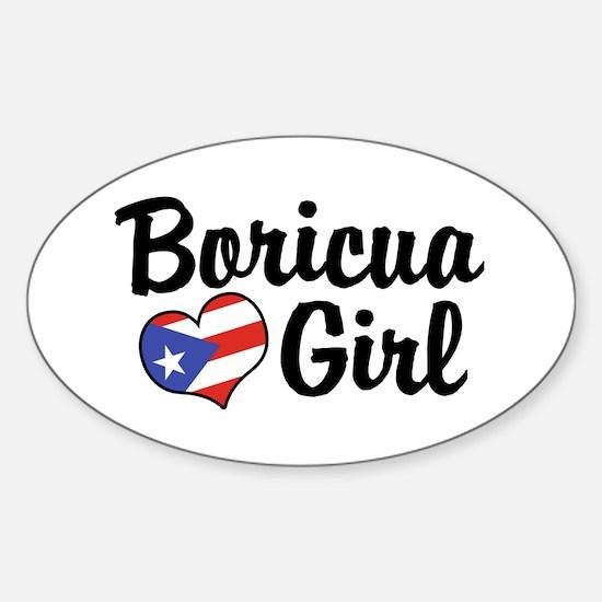 Boricua Girl Oval Decal