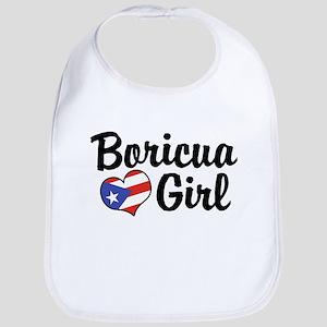 Boricua Girl Bib