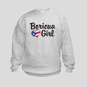 Boricua Girl Kids Sweatshirt