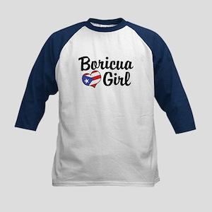 Boricua Girl Kids Baseball Jersey