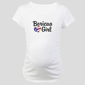 Boricua Girl Maternity T-Shirt