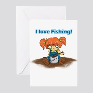 I Love Fishing! Greeting Cards (Pk of 10)