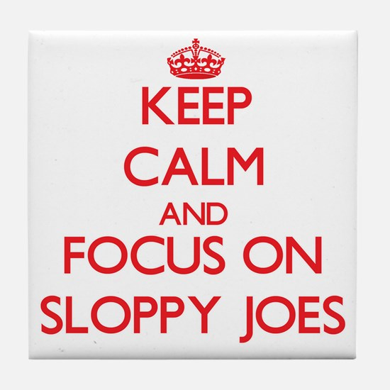 Cute Sloppy joe Tile Coaster
