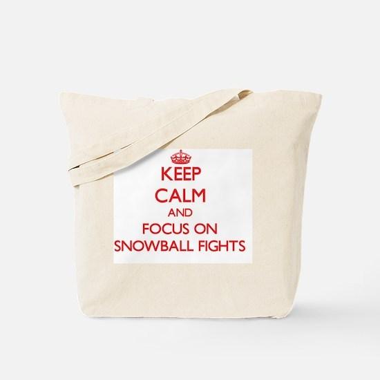 Cute Calm and fight Tote Bag