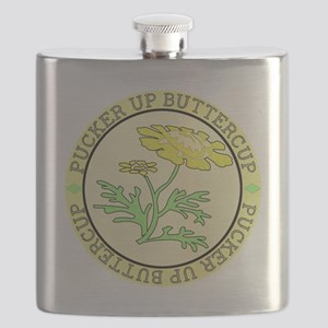 Pucker Up Buttercup Flask