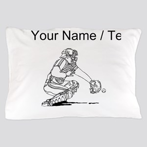 Custom Baseball Catcher Pillow Case