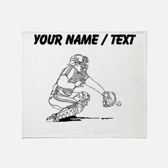 Custom Baseball Catcher Throw Blanket