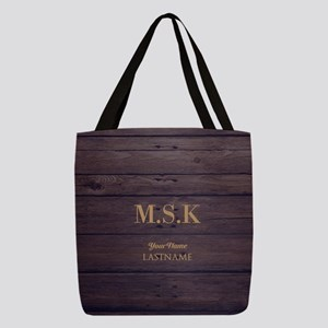 Rustic Barn Wood Personalized Polyester Tote Bag