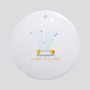 Run Fast Ornament (Round)