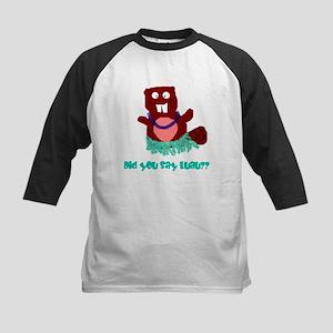 beaver luau Kids Baseball Jersey