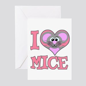 I Love (Heart) Mice Greeting Cards (Pk of 10)