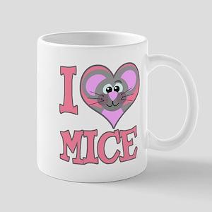 I Love (Heart) Mice Mug
